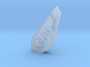 Tau fins, three variants in Smooth Fine Detail Plastic: d3