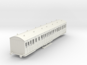 o-76-rhymney-railway-3rd-two-open-saloon-coach in White Natural Versatile Plastic