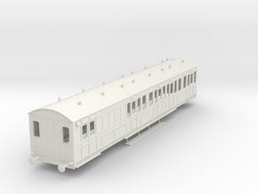 o-32-rhymney-railway-brk-3rd-two-open-saloon-coach in White Natural Versatile Plastic