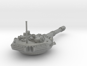 28mm T-72 style Challenger tank turret in Gray Professional Plastic