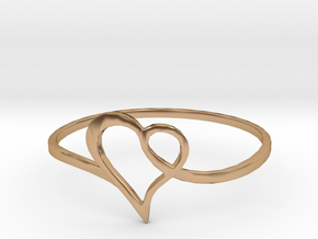 Minimalist Heart Ring in Polished Bronze: 7 / 54