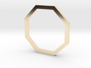 Octagon 12.37mm in 14k Gold Plated Brass