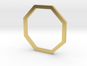 Octagon 13.21mm in Polished Brass