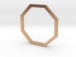 Octagon 13.61mm in Polished Bronze