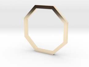 Octagon 13.61mm in 14k Gold Plated Brass