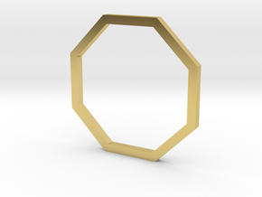 Octagon 14.36mm in Polished Brass