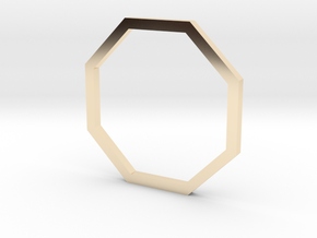 Octagon 14.36mm in 14K Yellow Gold
