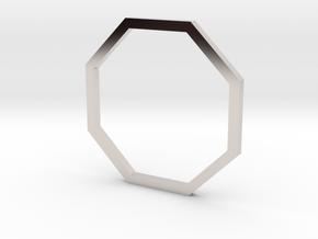 Octagon 15.27mm in Rhodium Plated Brass