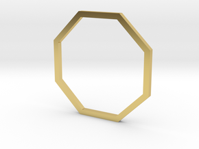 Octagon 16.92mm in Polished Brass