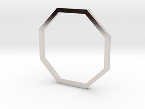 Octagon 16.92mm in Rhodium Plated Brass