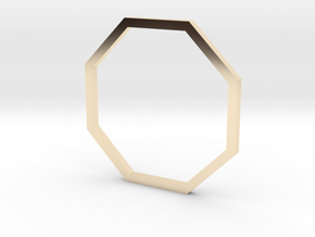 Octagon 16.92mm in 14K Yellow Gold