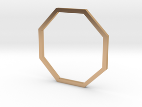 Octagon 17.75mm in Polished Bronze
