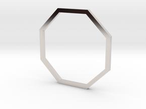 Octagon 17.75mm in Rhodium Plated Brass