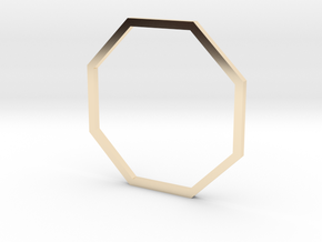 Octagon 19.84mm in 14K Yellow Gold