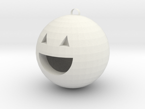 Pumpkin charm in White Natural Versatile Plastic: Medium