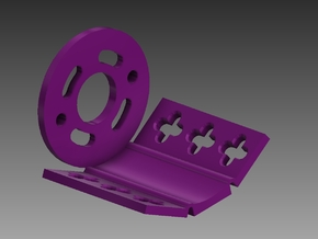 500 585 600 DC Motor Mount in Purple Processed Versatile Plastic