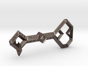 Key to Erebor in Polished Bronzed-Silver Steel: Medium