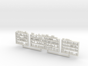 Detailed Shelving with Goods S Scale in White Natural Versatile Plastic