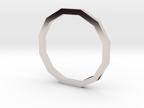 Dodecagon 12.37mm in Platinum