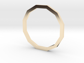 Dodecagon 13.21mm in 14K Yellow Gold