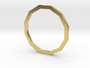 Dodecagon 13.61mm in Polished Brass