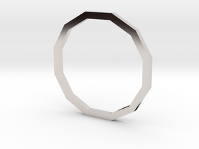 Dodecagon 14.05mm in Rhodium Plated Brass