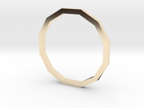 Dodecagon 14.05mm in 14K Yellow Gold