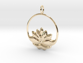 lotus g123 in 14k Gold Plated Brass