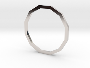 Dodecagon 15.27mm in Rhodium Plated Brass