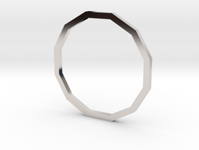 Dodecagon 16.30mm in Rhodium Plated Brass