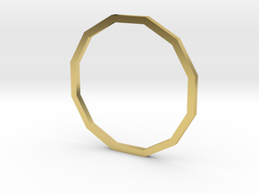 Dodecagon 18.19mm in Polished Brass