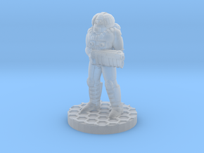 Futuristic Firefighter (28mm Scale Miniature) in Smooth Fine Detail Plastic