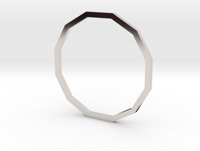 Dodecagon 18.89mm in Rhodium Plated Brass