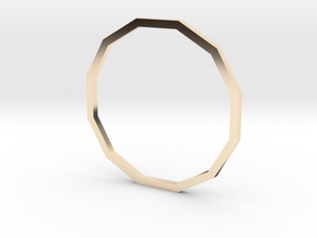 Dodecagon 19.41mm in 14K Yellow Gold