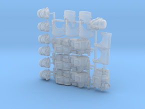 Toasty Bucketheads (x7) in Smoothest Fine Detail Plastic