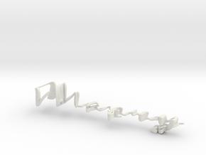 3dWordFlip: Merry/Christmas in White Natural Versatile Plastic