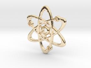 Atom_Pendant_V2_mm in 14k Gold Plated Brass