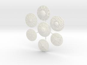 SARACEN SHIELDS  in White Processed Versatile Plastic