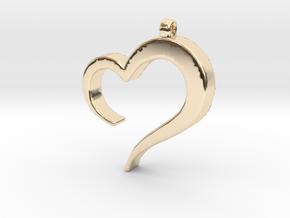 Heart_pendant in 14K Yellow Gold