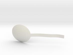 Environmentally friendly spoon in White Natural Versatile Plastic