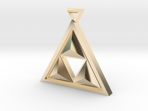 triforce in 14k Gold Plated Brass