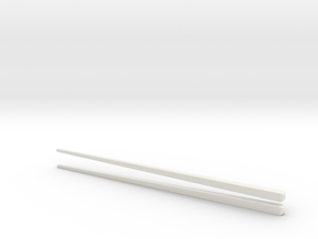 Environmentally friendly chopsticks in White Natural Versatile Plastic