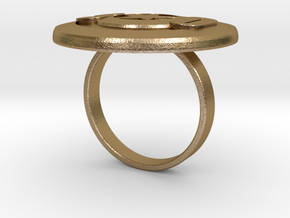Valery 30 ring in Polished Gold Steel: 7 / 54