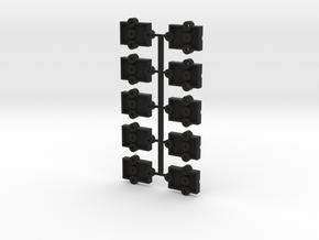 Lionel O Scale Steel Reefer Coupler Mount in Black Premium Versatile Plastic