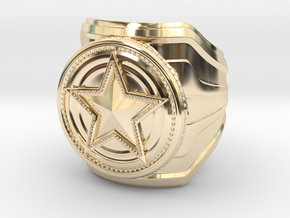 CS:GO - Service Medal Ring - wide band in 14K Yellow Gold