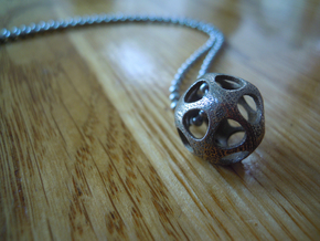 Pendant in Polished Bronzed Silver Steel