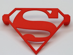 Superman Night Light in Red Processed Versatile Plastic