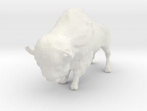 N Scale Bison in White Natural Versatile Plastic