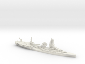Japanese Ise-class Hybrid Battleship in White Natural Versatile Plastic