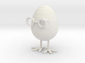 Glasses Chicken (GC) in White Natural Versatile Plastic: Medium